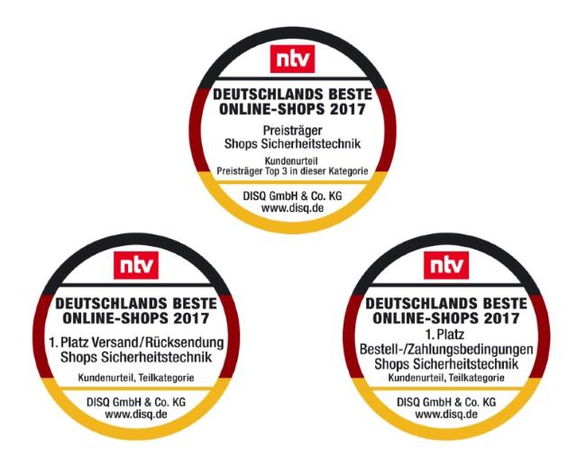 Siegel Deutschlands Beste Online-Shops 2017