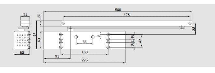 DORMA TS 93 Basic Türschließer Maß