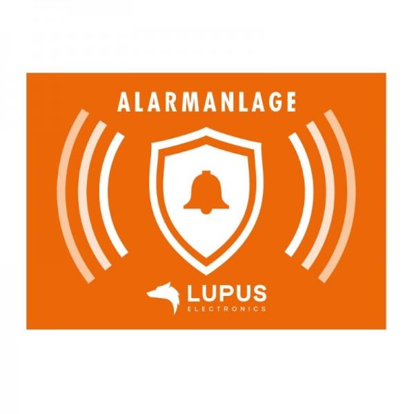 "Lupus Electronics Aufkleber ""Alarmanlage"""