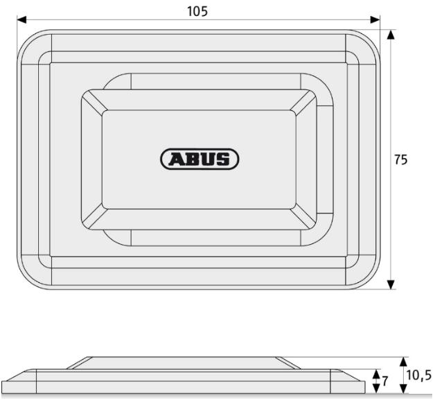 Skizze: Gitterrostsicherung ABUS GS40