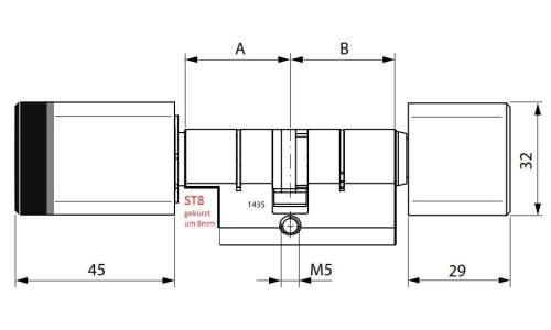 Dormakaba evolo smart technische zeichnung