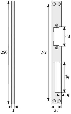 Sicherheitsschließblech ABUS SBT: Skizze
