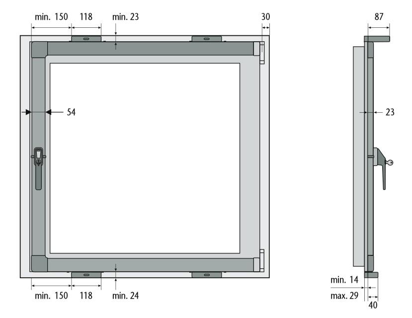 Skizze: Fenster-Kippsicherung ABUS FKS208