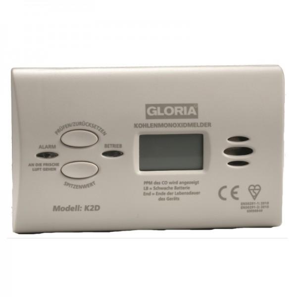 Kohlenmonoxid-Melder Gloria K2D mit Display