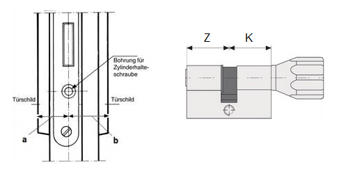 Knaufzylinder vermessen