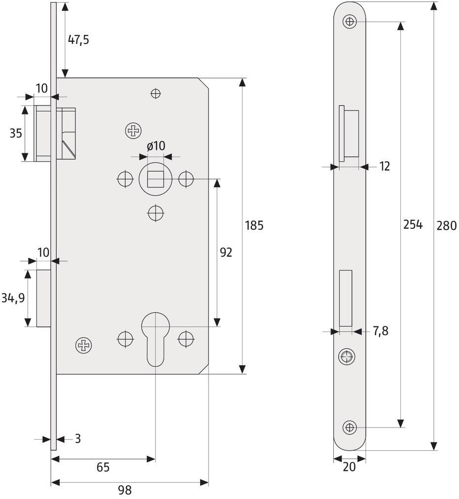 ABUS_THZ_90_technische_Zeichnung