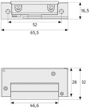 EMechanischer Türöffner ABUS MT 90: Skizze