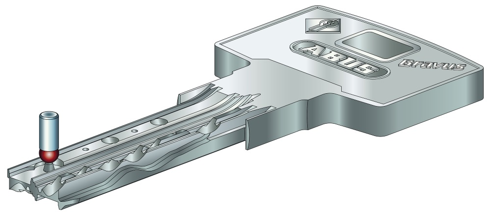 Mehrschlüssel zu ABUS Bravus 4000 Zeichnung