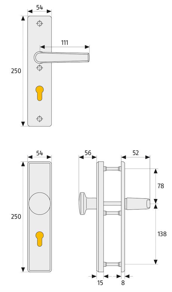 Skizze: ABUS HLN414 / HLN414 ZS