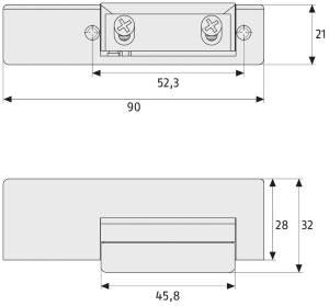 Elektrischer Türöffner ABUS ET 50: Skizze