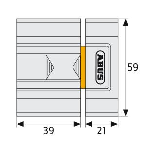 Skizze: Schieberiegel ABUS SR30
