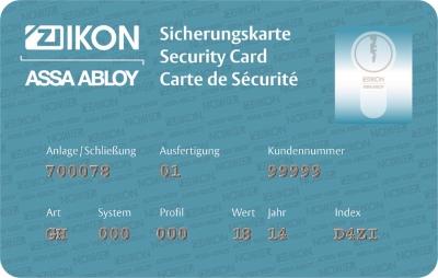 R10 Sicherungskarte