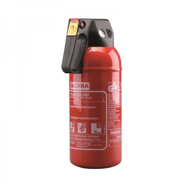 Feuerlöscher Gloria P2GM mit Kfz-Halterung