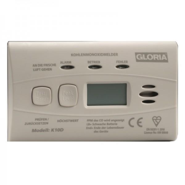 Kohlenmonoxid-Melder Gloria K10D mit Display