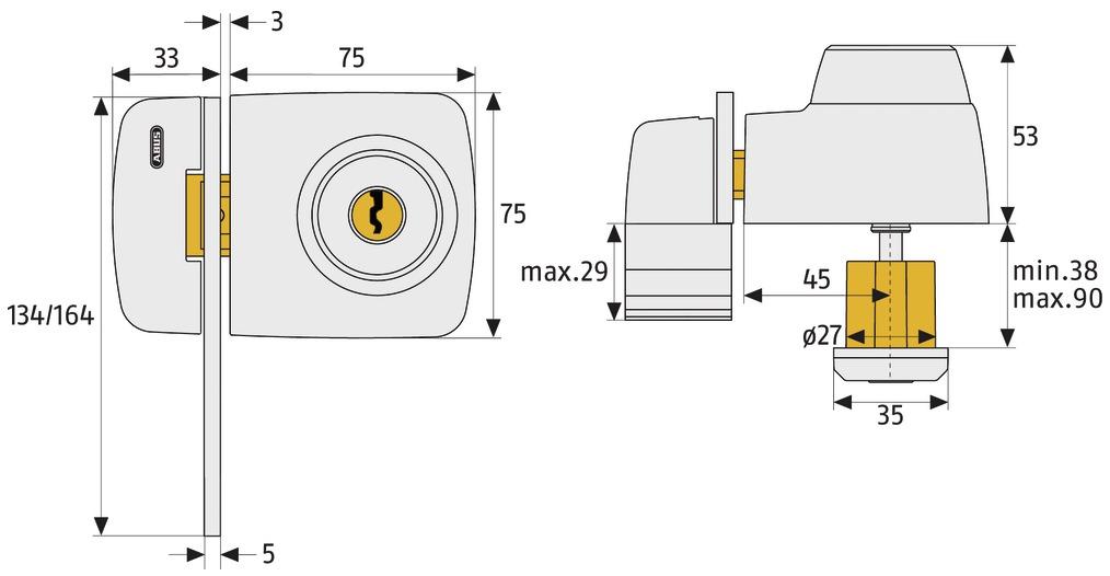 ABUS_7535_technische_Zeichnung