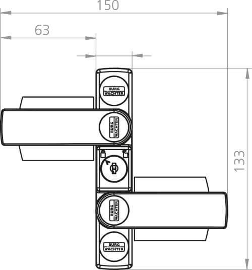 Fenster-Zusatzschloss Burg-Wächter WinSafe WS 22: Skizze