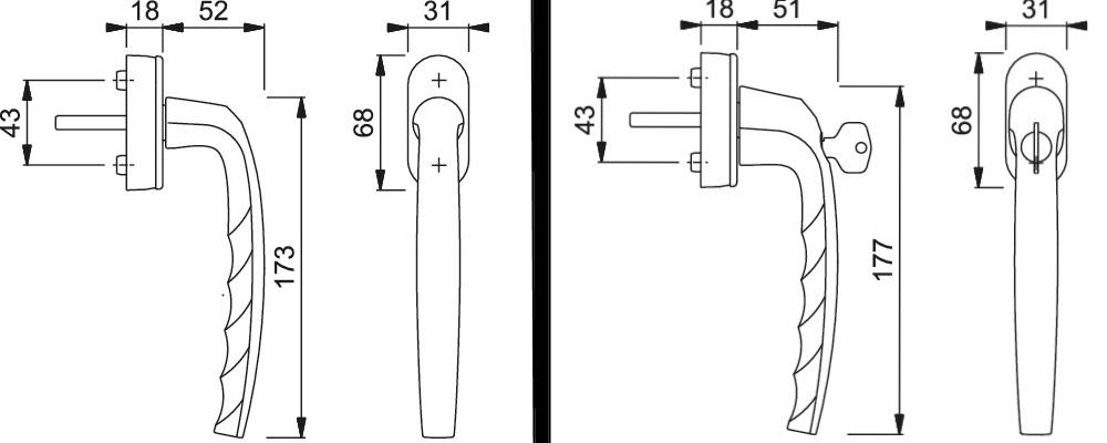 Atlanta Parallel-Schiebe-/Kipp-Garnitur