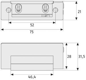 Elektrischer Türöffner ABUS ET 70: Skizze