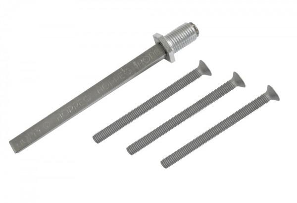 Befestigungsmaterial für Schutz-Wechselgarnituren (Türstärke 57 - 92 mm / 8 mm)