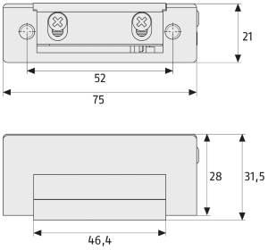 Elektrischer Türöffner ABUS ET 80: Skizze
