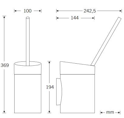 WC-Garnitur-Zeichnung