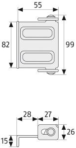 Skizze: Sicherheitswinkel ABUS SW10