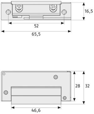 Elektrischer Türöffner ABUS ET 75: Skizze