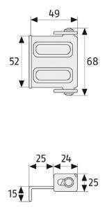 Skizze: Sicherheitswinkel ABUS SW 1