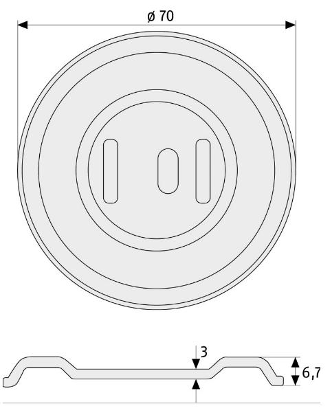 Skizze: Gitterrostsicherung ABUS GS20
