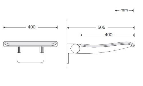 Duschklappsitz-eckig-Zeichnung