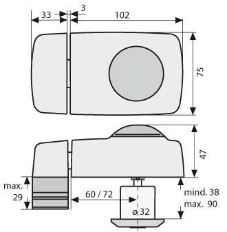 abus 7010 t r zusatzschloss mit drehknauf wei braun. Black Bedroom Furniture Sets. Home Design Ideas