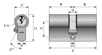 Profil-Doppel Zylinder Maß