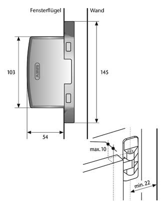 abus fas97 scharnierseitensicherung f r fenster wei ebay. Black Bedroom Furniture Sets. Home Design Ideas